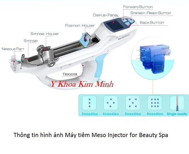 Máy tiêm dưỡng chất tự động 9 kim, máy tiêm tinh chất làm trắng da Meso Injector - Y Khoa Kim Minh