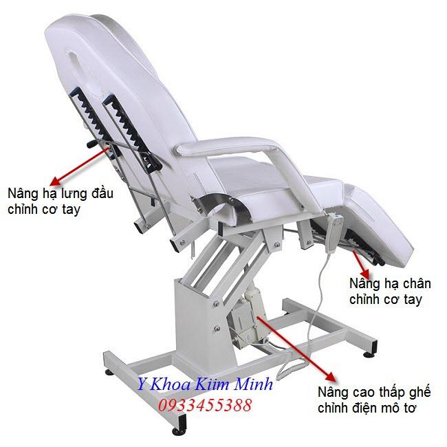 Thông số kỹ thuật giường ghế thẩm mỹ chỉnh điện GT-8251 - Y khoa Kim Minh