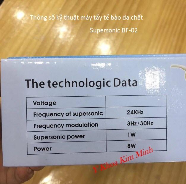 Thông tin sản phẩm, thông số kỹ thuật máy sủi da tẩy tế bào da chết BF-02 - Y Khoa Kim Minh
