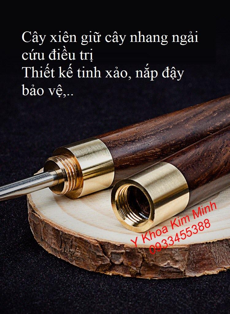 Thông tin về cây xiên giữ nhang ngải cứu khi hơ đốt nóng nhang ngải điều trị - Y khoa Kim Minh