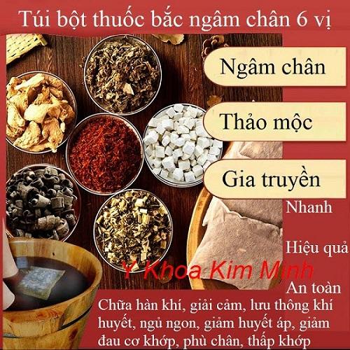Túi thuốc bắc ngâm chân 6 vị gia truyền - Y khoa Kim Minh