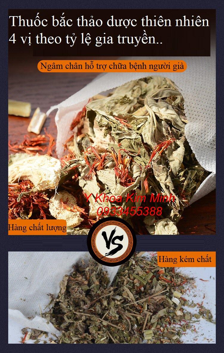 So sánh thuốc bắc ngâm chân chất lượng cao đang bán tại Y Khoa Kim Minh