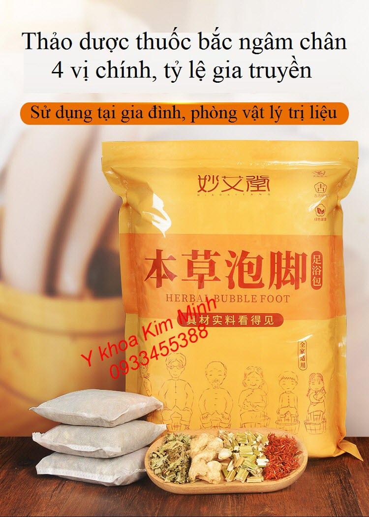 Thuốc bắc ngâm chân chữa bệnh gia truyền gồm 4 vị bán tại Tp.HCM - Y Khoa Kim Minh