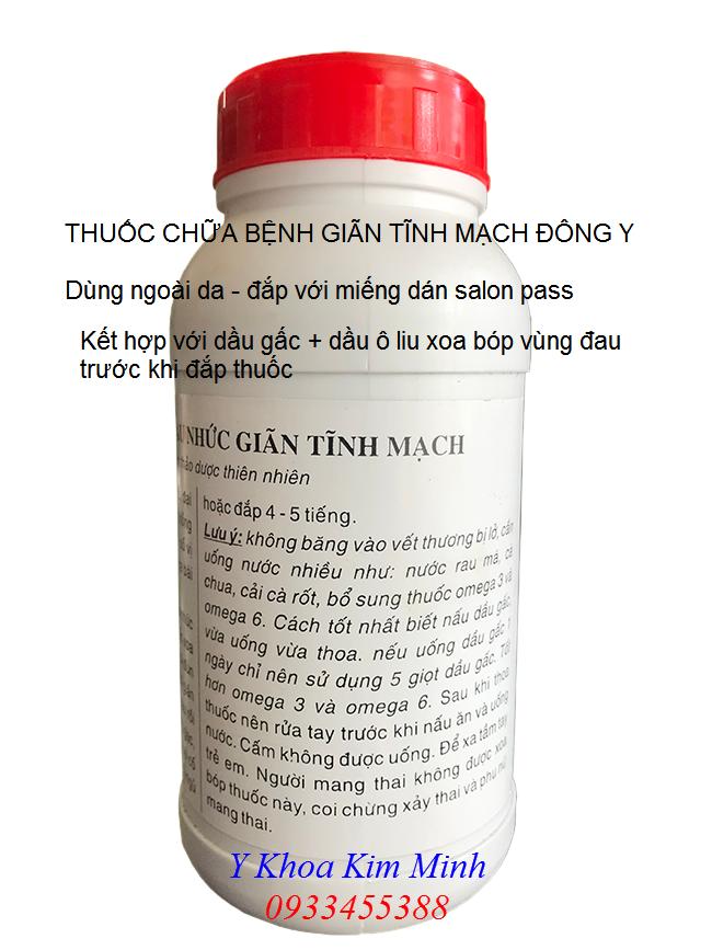 Thuốc chữa giãn tĩnh mạch Đông y gia truyền Việt Nam bán tại Tp Hồ Chí Minh - Y Khoa Kim Minh 0933455388
