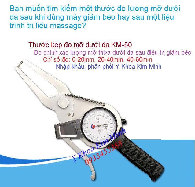 Thước kẹp đo lượng mỡ dưới da KM50 đang bán tại Y Khoa Kim Minh 0933455388