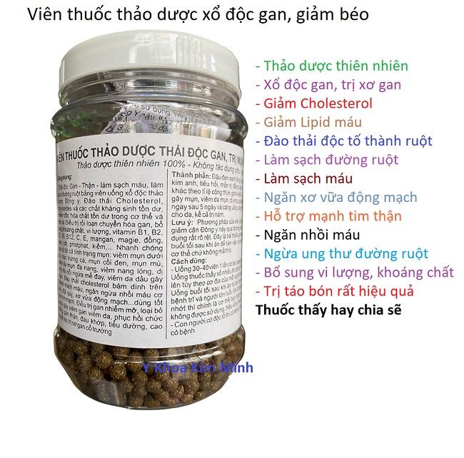 Thuốc xổ độc gan, giảm béo đông y gia truyền Kim Minh