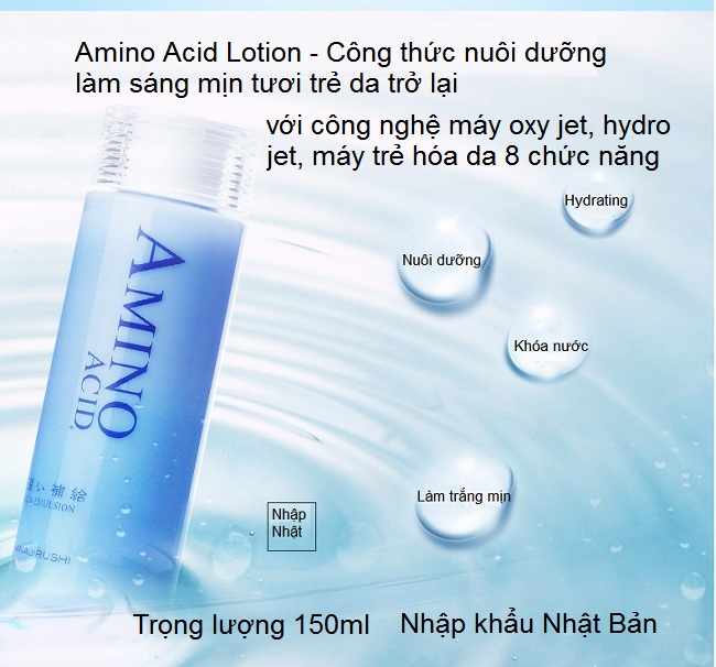 Tinh chất lotion đi máy oxy jet, may trẻ hóa da Amino Acid Hanajirushi Nhật Bản - Y khoa Kim Minh