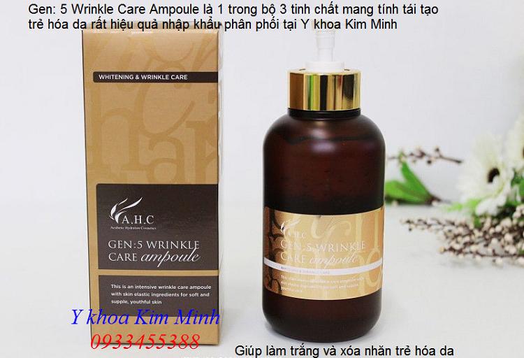 Tinh chất làm trắng xóa nhăn căng bóng trẻ hóa da Hàn Quốc Wrinkle Care Ampoule - Y khoa Kim Minh