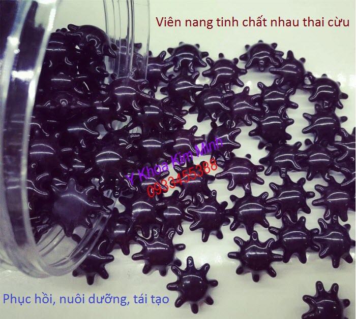 Vien nang my pham tinh chat nhau thai cuu duong trang min da sieu nhanh - Y khoa Kim Minh