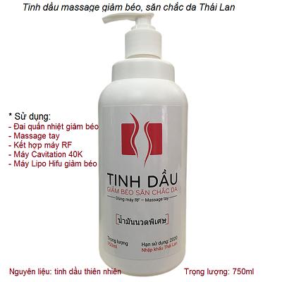 Tinh dầu massage giảm béo Thái Lan chạy máy RF làm thon gọn body săn chắc da - Y khoa Kim Minh