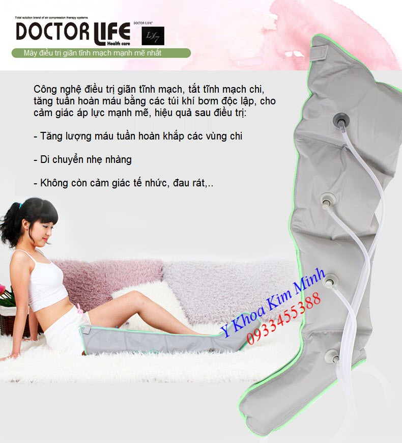 Tinh nang cong dung may dieu tri benh gian tinh mach chan Doctor VX-7 Korea - Y Khoa Kim Minh 0933455388
