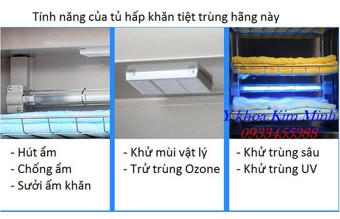 Tính năng khử trùng khử mùi của tủ hấp khăn 58 lít ZTP-58Q - Y khoa Kim Minh