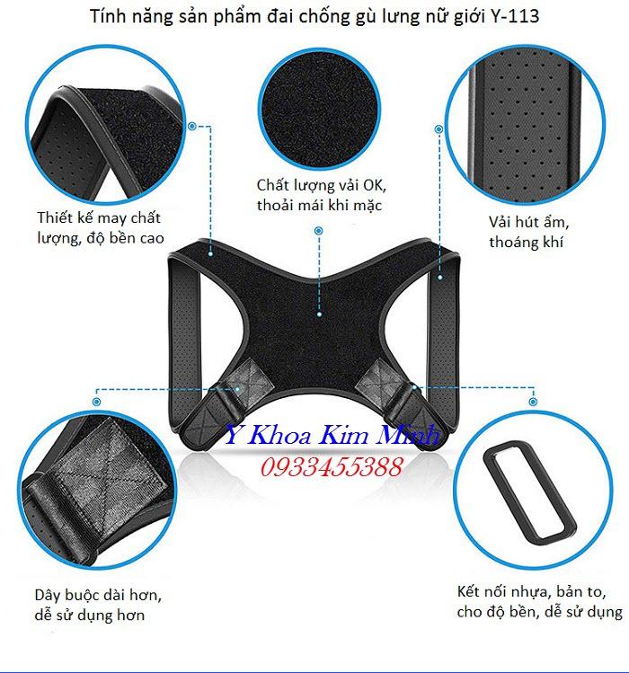 Tính năng chống gù lưng của đai cột sống Y-113 - Y Khoa Kim Minh