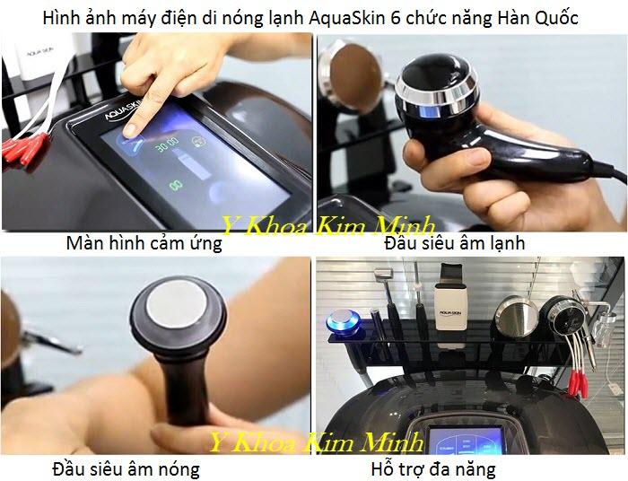 6 tính năng điều trị máy điện di nóng lạnh Hàn Quốc Aqua Skin - Y khoa Kim Minh