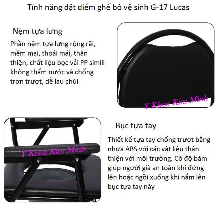 Tính năng đặc điểm chất lượng của ghế vệ sinh Lucas G-17 - Y khoa Kim Minh