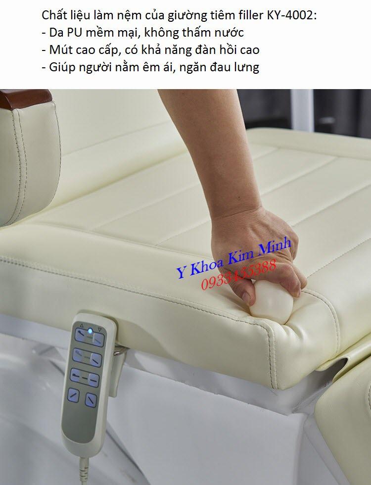 Tính năng của nệm giường tiêm filler 4 chức năng cao cấp KY-4002 có chỉnh điện - Y Khoa Kim Minh