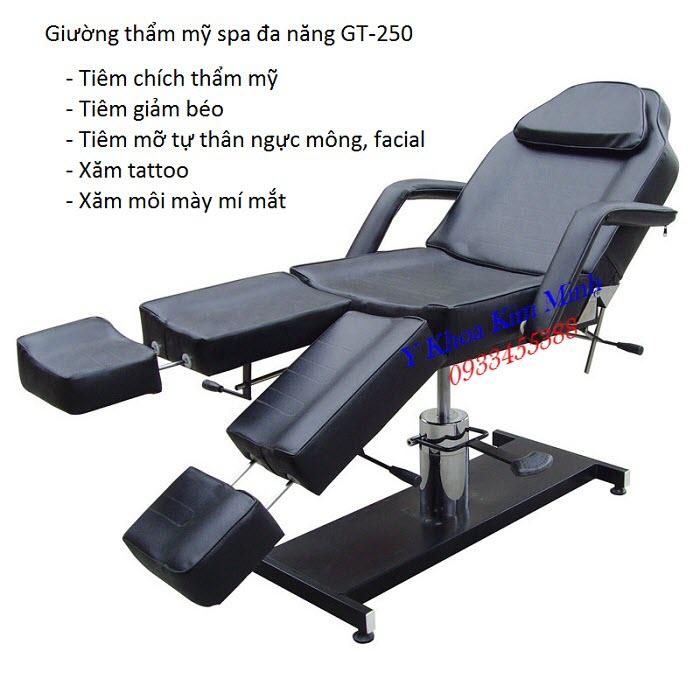 Tính năng, công dụng của giường tiêm thẩm mỹ spa GT-250 bán tại Y Khoa Kim Minh