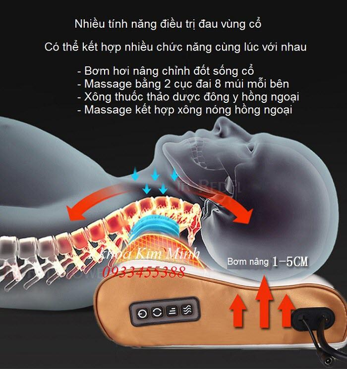 Tính năng điều trị của gối massage giảm đau cột sống cổ K16D - Y khoa Kim Minh