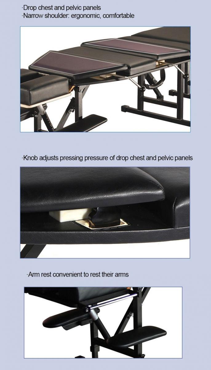 Tính năng kỹ thuật giường nắn cột sống AK-180 Chiropractic Cracks Table - Y Khoa Kim Minh