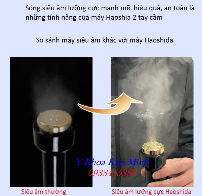 Tính năng, công suất 200w của máy siêu âm lưỡng cục làm thon gọn cơ mặt Haoshida - Y Khoa Kim Minh
