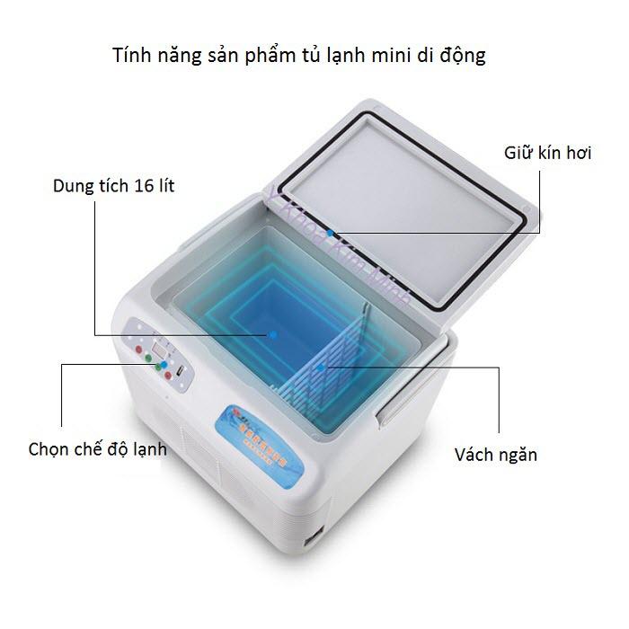 Hình ảnh thực tế, tính năng tủ giữ lạnh mỹ phẩm thuốc y tế mini di động - Y Khoa Kim Minh