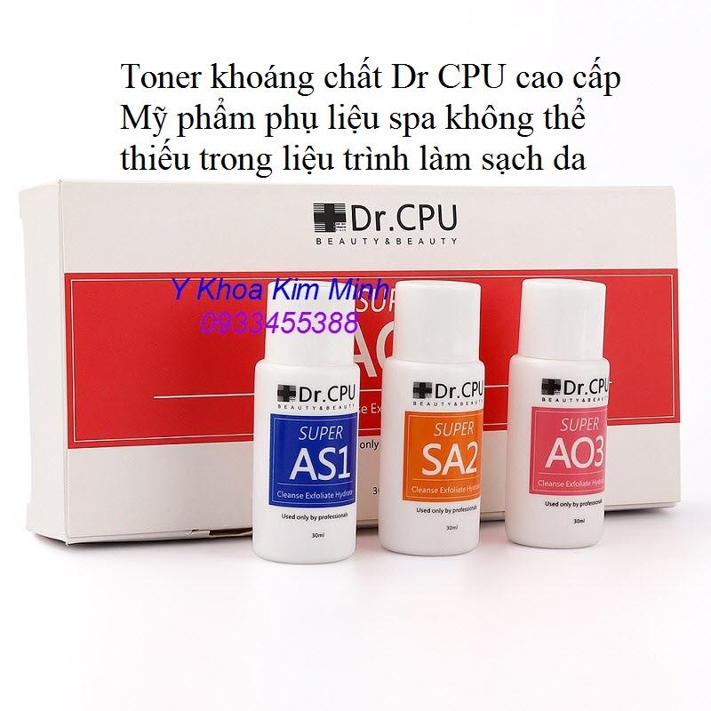 Dr CPU Toner khoáng chất không thế thiếu trong liệu trình làm sạch da trước khi chạy mỹ phẩm cho khách hàng - Y khoa Kim Minh