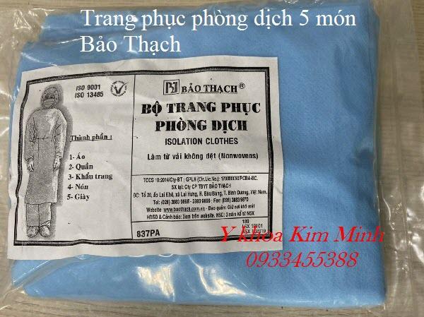 Bộ quần áo 5 món phòng dịch lây nhiễm Bảo Thạch - Y khoa Kim Minh