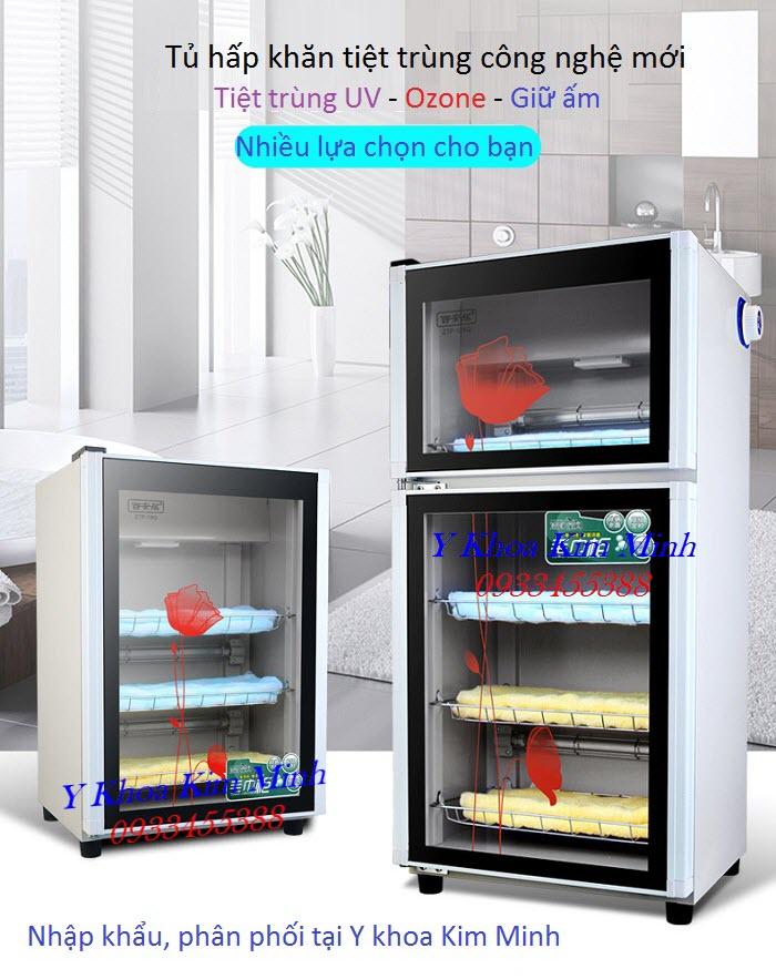 Tủ tiệt trùng khăn UV có khí Ozone dùng cho thẩm mỹ viện, spa, trường học, resort, khách sạn - Y khoa Kim Minh