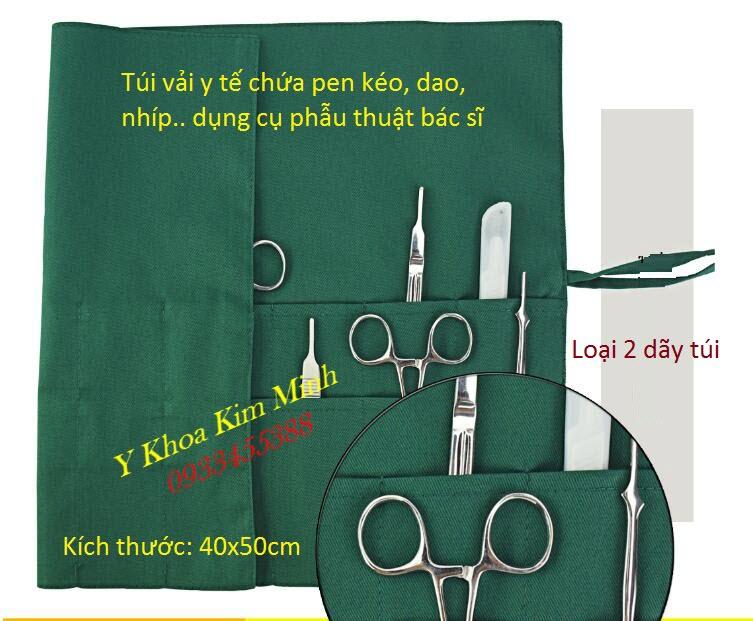 Túi vải chứa đựng pen kéo, dụng cụ phâu thuật của bác sĩ phòng mổ - Y Khoa Kim Minh