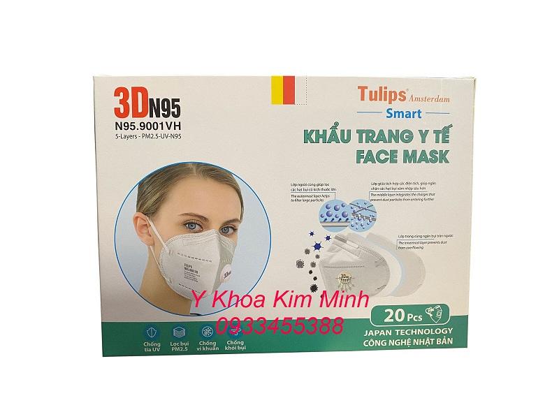 Tulips Face Mask with Valve có khả năng chống lây nhiễm virus và an toàn sức khoẻ cho người bệnh