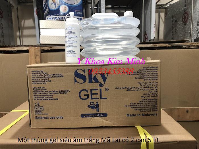 Ultrasound Sky Gel Malaysia, gel sieu am trang chay may giam beo RF - Y Khoa Kim Minh