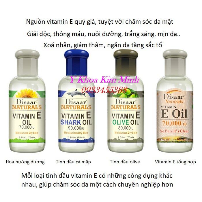 Nơi bán tinh dầu massage mặt vitamin E thiên nhiên dùng cho spa - Y Khoa Kim Minh