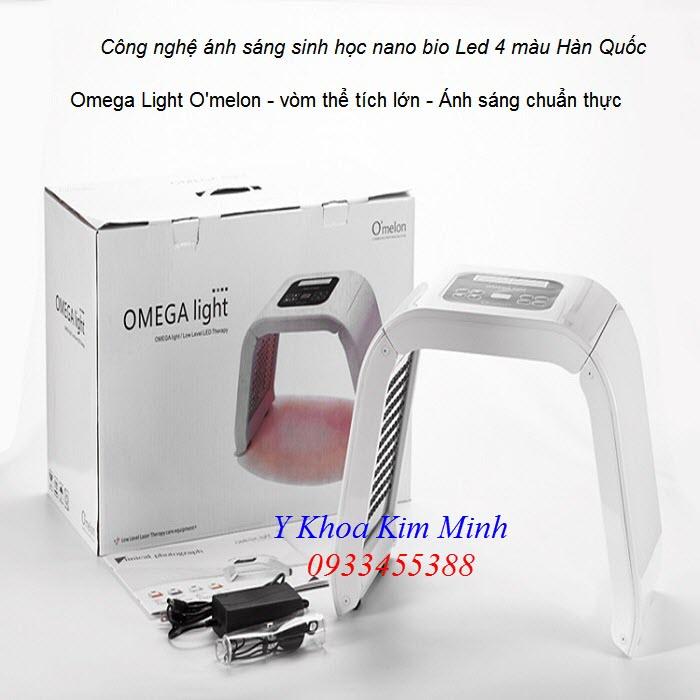 Vòm chăm sóc da mặt Omega Light Omelon cong nghệ Hàn Quốc 4 màu - Y khoa Kim Minh
