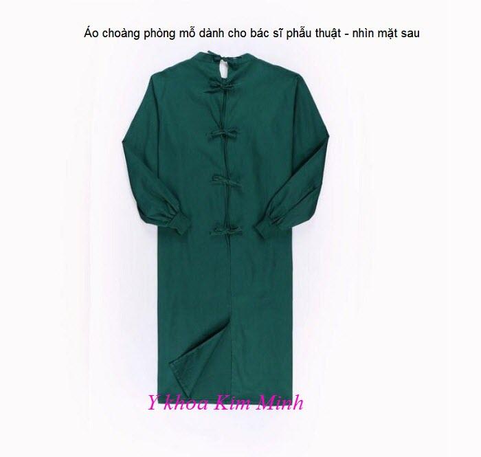 Áo choàng dùng cho bác sĩ phẫu thuật trong phòng mổ nhìn mặt sau - Y khoa Kim Minh