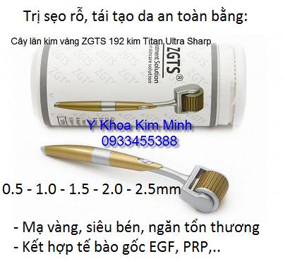 Cây lăn kim tay mạ vàng ZGTS (R) 192 kim chính hãng chuyên lăn sẹo, PRP - Y Khoa Kim Minh