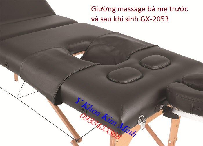 Giường massage chăm sóc bà mẹ trước và sau khi sinh cho phòng GYM, YOGA, Vật lý trị liệu - Y Khoa Kim Minh