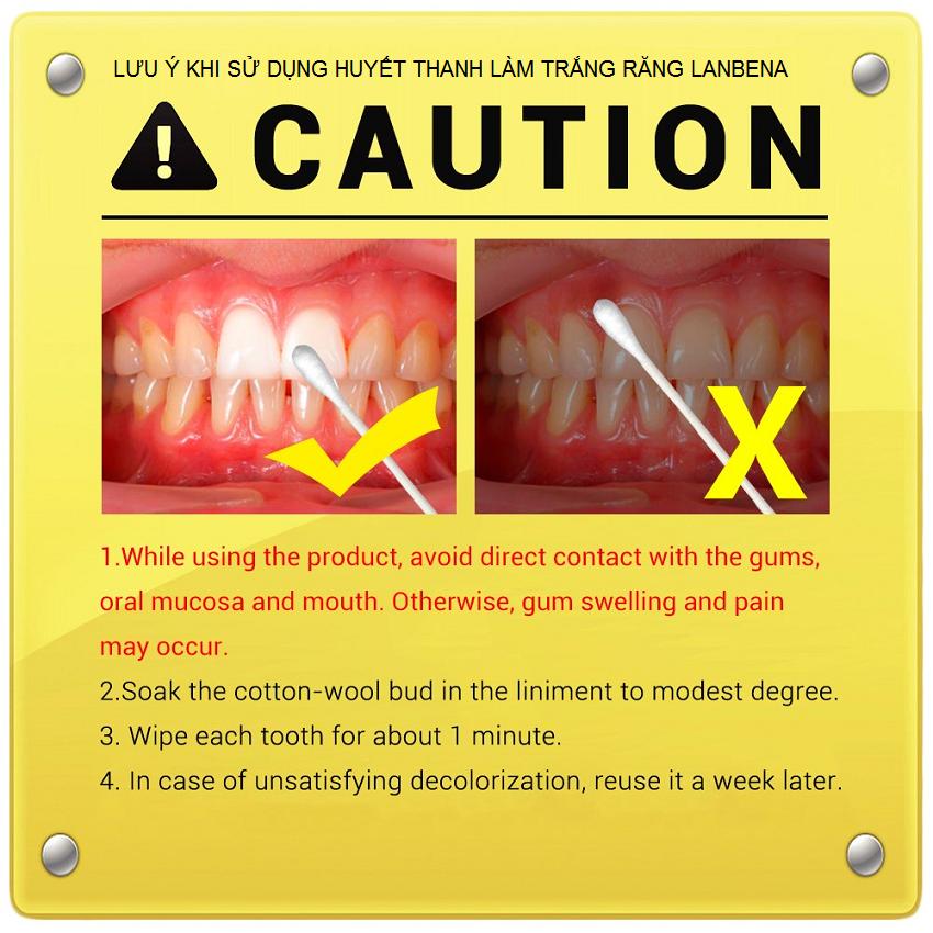 Hướng dẫn sử dụng huyết thanh làm trắng răng Lanbena - Y khoa Kim Minh