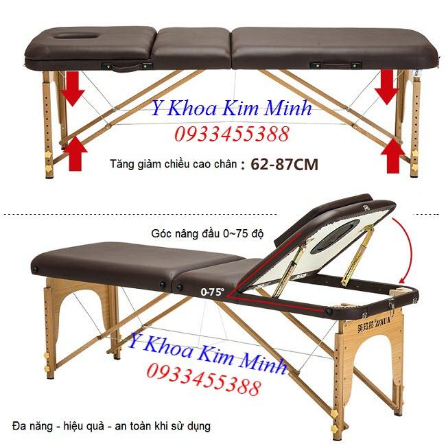 Hinh anh giuong va li chan go nang dau 3 khuc KW-320 - Y khoa Kim Minh - Y Khoa Kim Minh