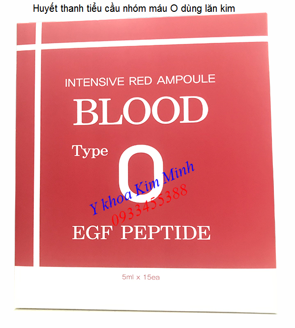 Huyet thanh tieu cau do dung lan kim, intensive red ampoule - Y khoa Kim Minh